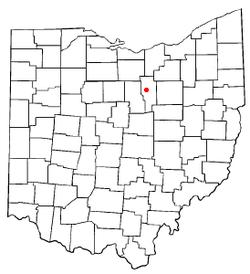 阿什兰市在俄亥俄州的位置
