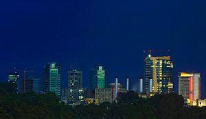 Port of Spain night skyline 2008.jpg