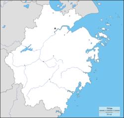 Zhuji is located in Zhejiang