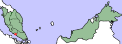 荷属马六甲地理(红点)