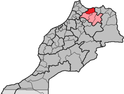 Al Hoceïma Province in the region Taza-Al Hoceima-Taounate