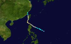 台风黛玛的路径图
