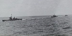 Three japanese No1-class submarine chasers in 1938.jpg