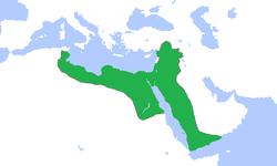 1188年萨拉丁治下阿尤布王朝最大版图