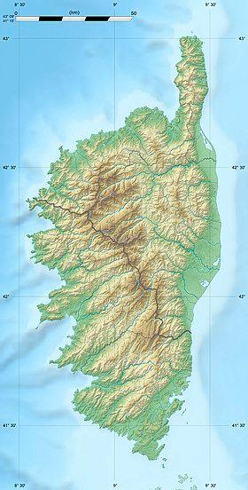 Voir sur la carte topographique de Corse