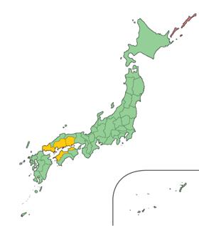濑户内地方在日本的位置