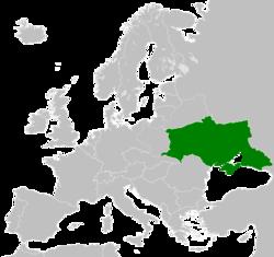 乌克兰人民共和国在1919年在巴黎和会上所要求的疆域