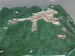 千早城复原模型(千早赤阪村立郷土资料馆)