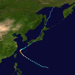 超强台风泰利的路径图