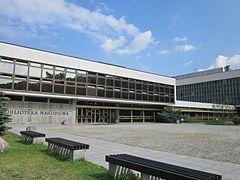 Warszawa - Biblioteka Narodowa - główne wejście.JPG