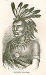Portrait of Miami tribe war-chief Little Turtle