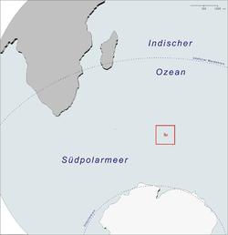 凯尔盖朗群岛在印度洋的位置