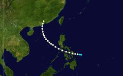1900年香港台风的路径图