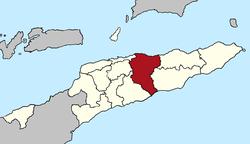 马纳图托区在东帝汶的位置