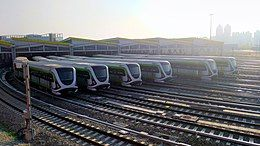 Trains at Beitun Depot