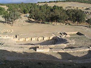 Roman ruins at Kasserine.