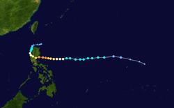 超强台风巨爵的路径图