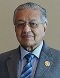 Mahathir Mohamad in 18th Summit of Non-Aligned Movement (cropped).jpg