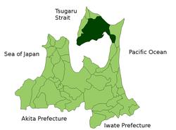 陆奥市位置图