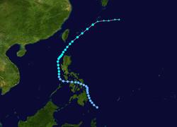 强热带风暴西马仑的路径图
