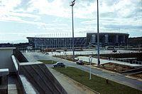 Olimpiai Komplexum, szemben az 1962. július 5.-e Stadion. Fortepan 100571.jpg