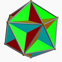 Pentagrammic-order pentagonal tiling (Great dodecahedron).png