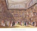 The Exhibition Room at Somerset House by Thomas Rowlandson and Augustus Pugin. 1800..jpg