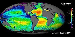 Global salinity map