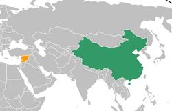 China和Syria在世界的位置