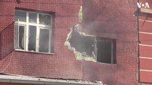 File:Mortar Bullet Hits House in Akcakale, Turkey on Syria Border.webm