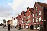 Bryggen houses, look from the street.