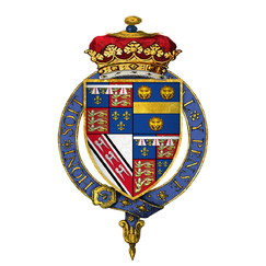 Coat of arms of Sir Edmund de la Pole, 3rd Duke of Suffolk, KG.png