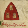 Inverted shield with the arms of Stephan de Segrave.png