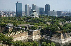 大阪城の全景、大阪府大阪市