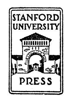 """The words """"Stanford University Press"""" superimposed on a line drawing of one of the gates to the main quad"""