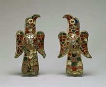 Visigothic - Pair of Eagle Fibula - Walters 54421, 54422 - Group.jpg