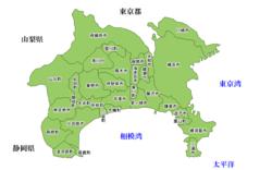 神奈川县当地地图