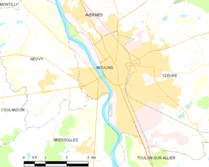 穆兰市镇地图