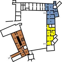 Wawel Castle, Ground floor.png