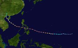 超强台风海燕的路径图