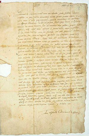 List Jana Kalwina do zboru kalwińskiego w Wilnie.jpg