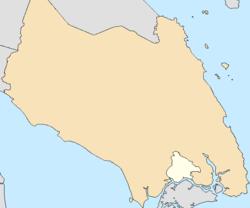 新山市在Johor Bahru的位置