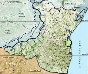 Constanța pe harta județului Constanța