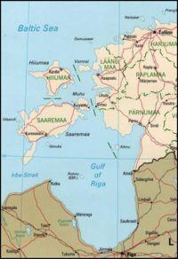 萨雷马岛(Saaremaa)为图中最大岛