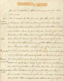A hand-written document