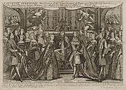 Marriage of Louis, Dauphin of France to Marie Thérèse Raphaëlle, Infanta of Spain in 1745 at Versailles.jpg