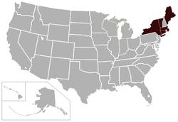 新英格兰小学院体育联盟 locations