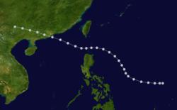 1937年丁丑台风的路径图