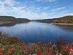 秋季的阿勒格尼水库