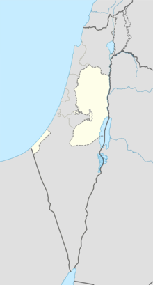 Map showing the location of Judea